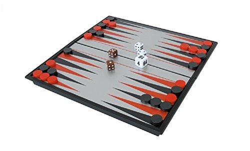 持ち運び簡単 折り畳み式 バックギャモン ボードゲーム 磁石 マグネット タイプ 日本語説明書付き