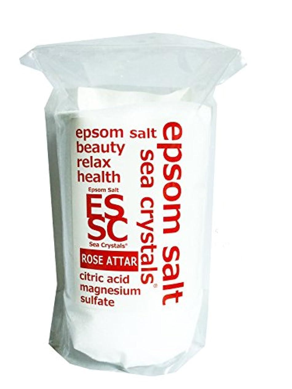広告忠実むしゃむしゃ【Amazon.co.jp 限定】エプソムソルト 2.2kg ローズオットーの香り 入浴剤 (浴用化粧品)クエン酸配合 計量スプーン付
