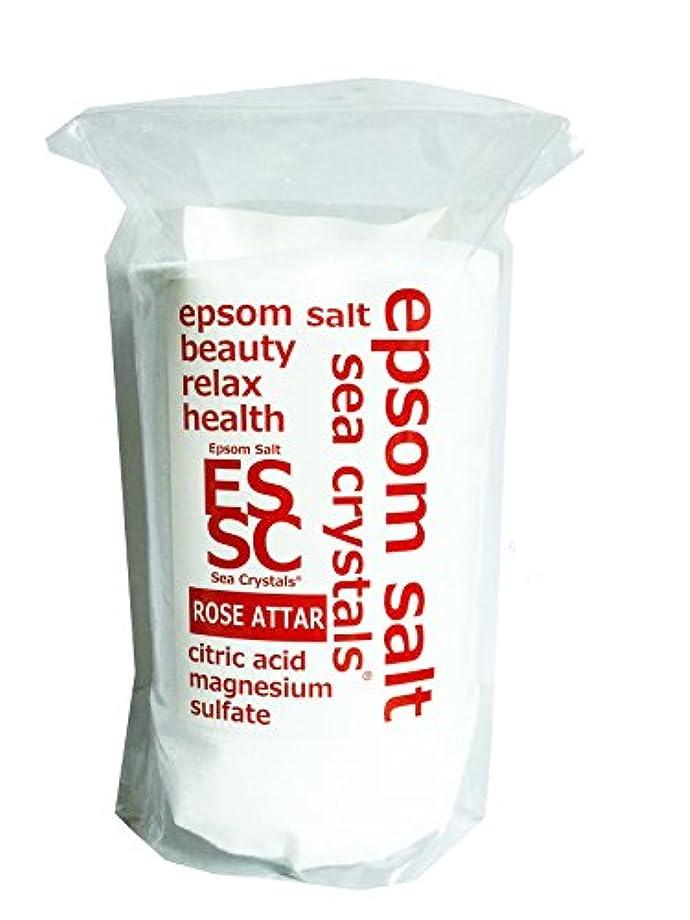 マイナーり行商人【Amazon.co.jp 限定】エプソムソルト 2.2kg ローズオットーの香り 入浴剤 (浴用化粧品)クエン酸配合 計量スプーン付