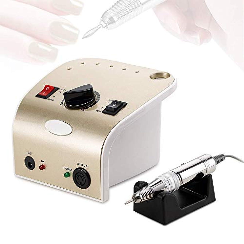 ネイルドリルアクリルネイルマニキュアペディキュアツール用電動ネイルファイル35000RPMネイルアートポリッシングマシン低熱低ノイズおよび低振動,真鍮