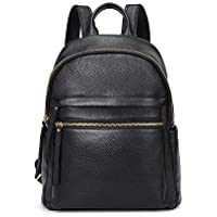 Kattee Genuine Leather Backpack Purse for Women Multi-functional Elegant Daypack Soft Leather Shoulder Bag Office, Shopping, Trip