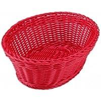 洗えるバスケット オーバル M レッド