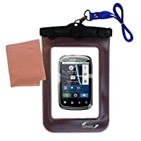 Underwater Case for the Motorola Spice–天気、安全に保護防水ケースagainst the elements