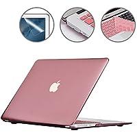 """i-Buy 4in1 マットハードシェル + 日本語 キーボードカバー + スクリーンプロテクター + ダストプラグ for Apple Macbook Air 13"""" (モデル A1369 A1466) - ローズゴールド Rose Gold"""