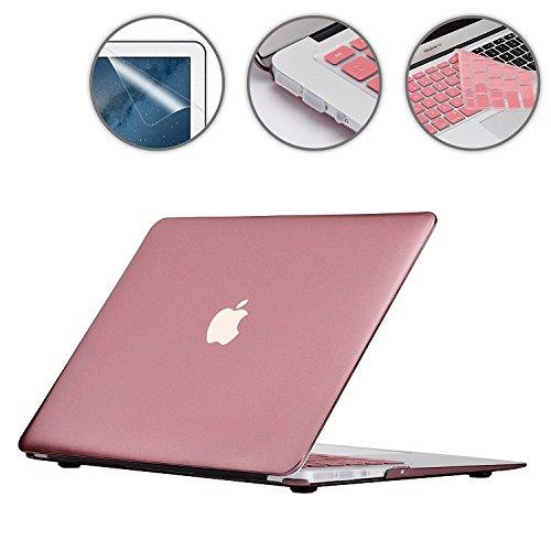 4in1 マットハードシェル + 日本語 キーボードカバー + スクリーンプロテクター + ダストプラグ for Apple Macbook Air 13