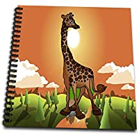 (20cm by 20cm ) - 3dRose db_5733_1 Happy Giraffe-Drawing Book, 20cm by 20cm