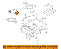 Genuine Hyundai 92800-2H000-8M Overhead Console Lamp Assembly [並行輸入品]