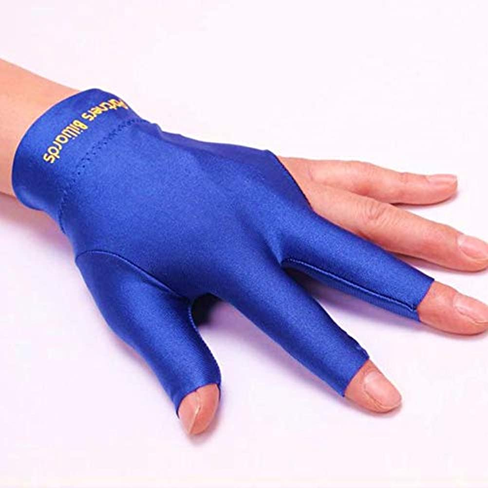 余剰危険を冒します一回手袋 ビリヤード 滑り止め スヌーカー ビリヤード 3本の指 厚手の手首 手袋 良い柔軟性 高品位 フィンガーレス ビリヤード ビリヤード選手用の手袋 赤、青、黒、灰色
