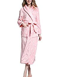 Zhuhaitf 成人の快適なホーム浴パジャマ Adult Unisex Luxury 柔らかい Coral velvet Lovers Nightgown Sleepwear Plus Size