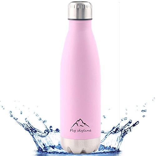 水筒 ステンレス 保温保冷 真空断熱 スポーツボトル コカコーラボトル 500ml (ピンク)