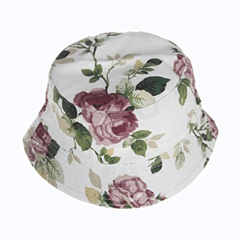 Lieteuy 子供 幼児 赤ちゃんの帽子 男の子 女の子 花柄 バケツ帽子 サンヘルメット 帽子
