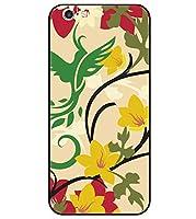 iPhone 6 専用 選べる デザイン プリント ケース TPU 背面 強化 ガラス 花鳥風月 B26