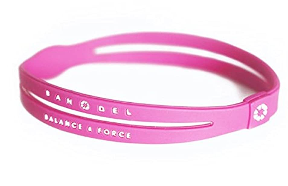縫う有効な冒険バンデル(BANDEL) シリコン アンクレット メンズ [ピンク×ホワイト] Lサイズ