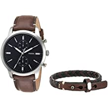 Fossil Townsman Dark Brown Stainless Steel & Leather Watch FS5394SET