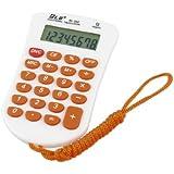 生徒役のためにオレンジストラップ8桁23ラバーキー電卓