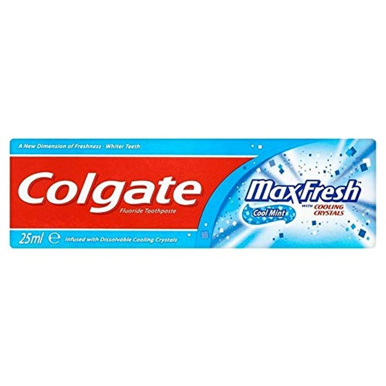 肩をすくめる収益四回[Colgate ] コルゲートの歯磨き粉最大の新鮮な青25ミリリットル - Colgate Toothpaste Max Fresh Blue 25ml [並行輸入品]