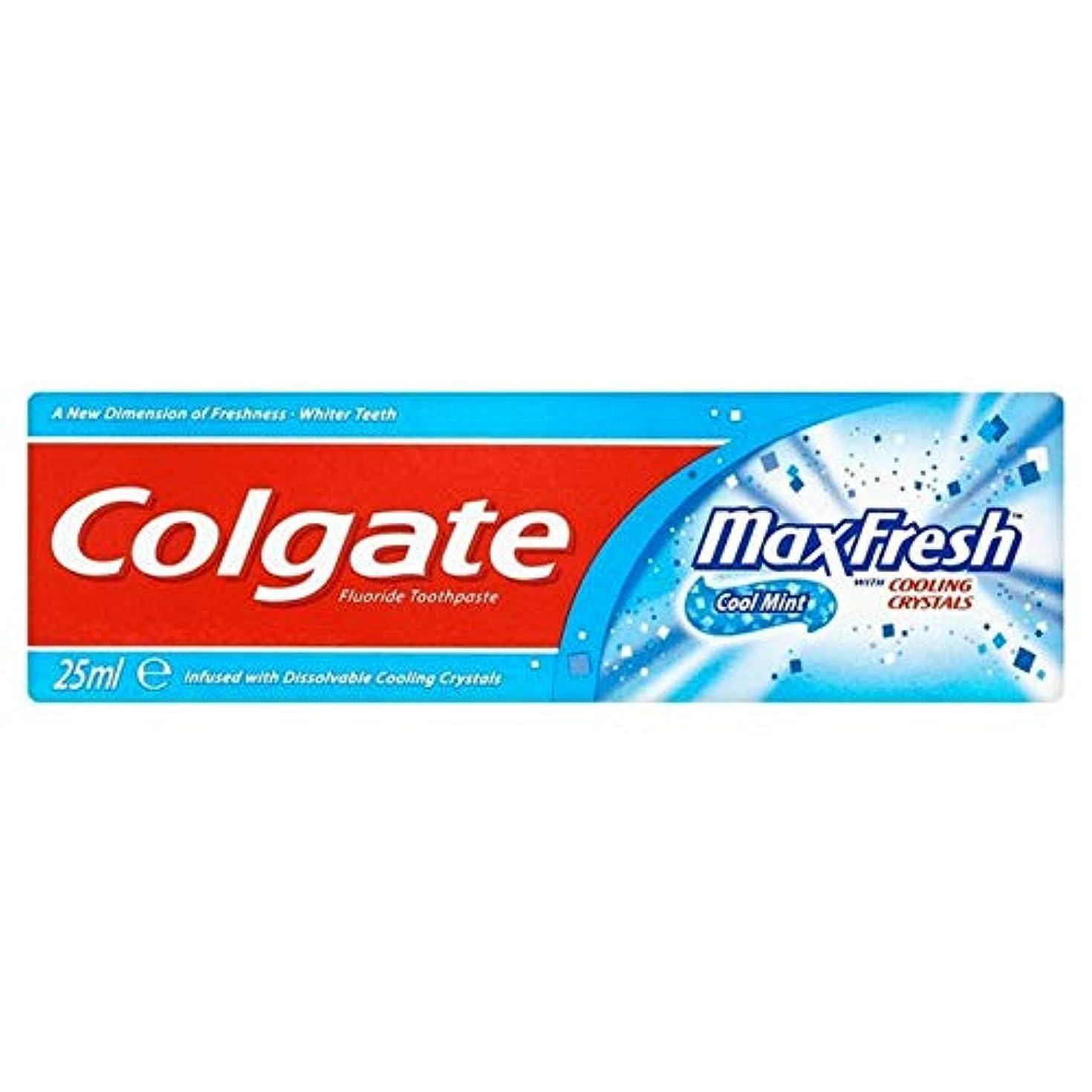 ポンプハイライトハチ[Colgate ] コルゲートの歯磨き粉最大の新鮮な青25ミリリットル - Colgate Toothpaste Max Fresh Blue 25ml [並行輸入品]
