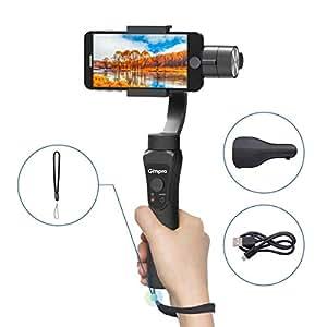 Gimpro スマホスタビライザー 3軸ジンバルスマートフォン手持ちジンバル 手ブレ防止 最大6インチ 200Gスマホ対応 顔&オブジェクト追跡 12時間ランタイム 低速度撮影 日本語説明書付
