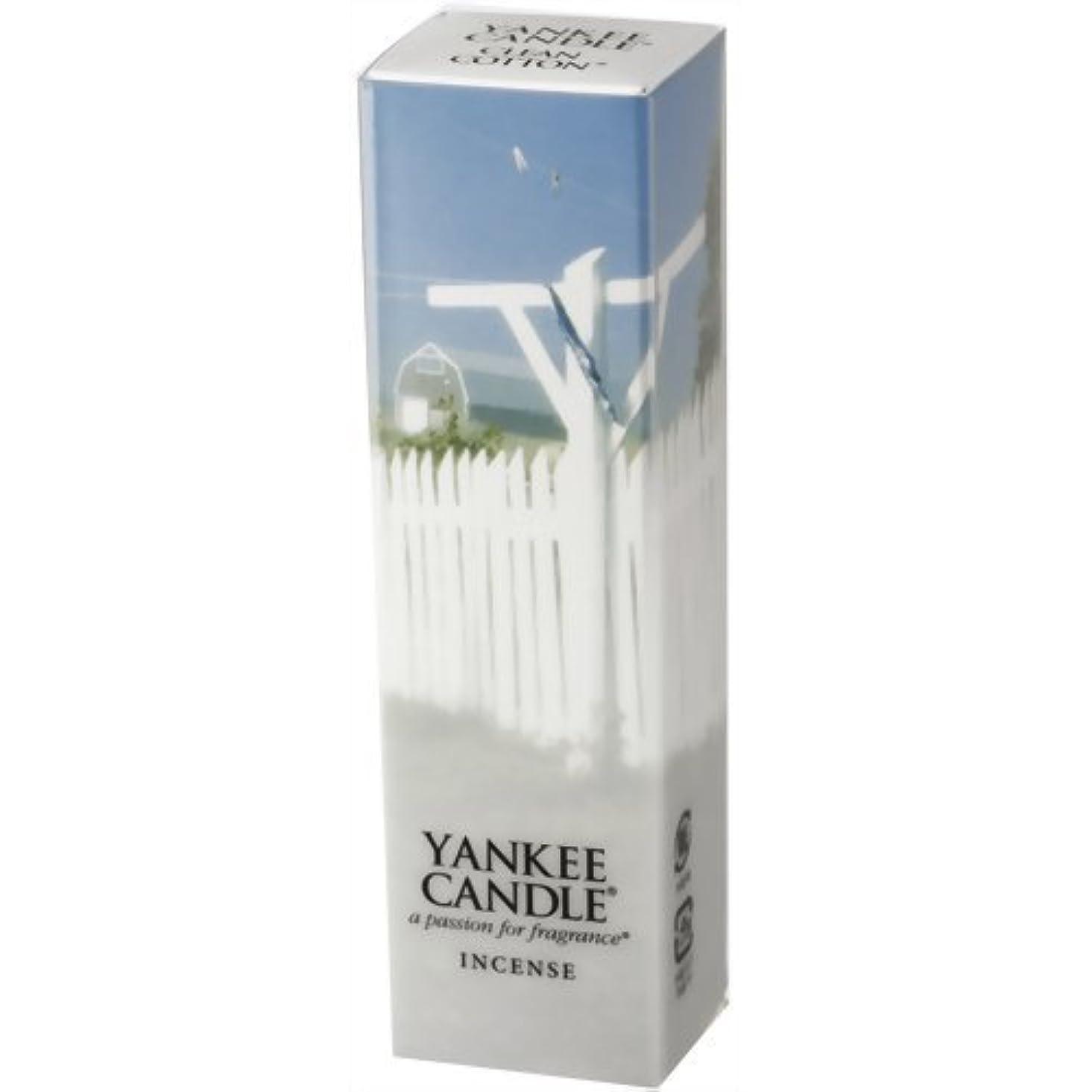 影響嘆願教育学YANKEE CANDLE(ヤンキーキャンドル) YCインセンス クリーンコットン