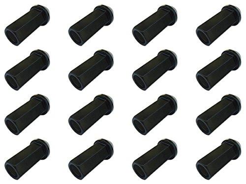 17H48mm貫通黒M12×P1.5【クロモリスチール製】【レーシングナット】