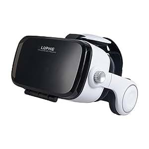 LUPHIE 3D VRゴーグル スマホ VR BOX 3D眼鏡 VRメガネ 3D ヴァーチャルリアリティ 頭部装着超3D映像効果 仮想現実box アプリ対応iphone7/7 Plus iphone6/6s iphone6s plusXperia Galaxy等多機種対応