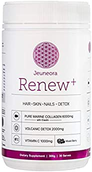 Jeuneora Renew+ - Marine Collagen Powder, Sustainably Sourced, 100% Natural, 100% Recyclable Packaging, Gluten Free, Daily C