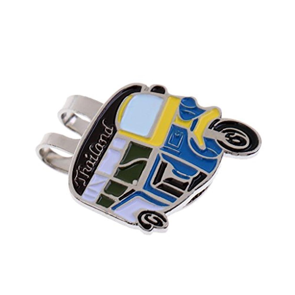 強調弱いエスカレートゴルフ用品 磁気 ハットクリップ ゴルフボールマーカー 輪タク型 創造的 ギフト