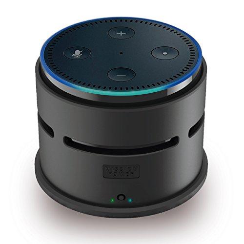 【Made for Amazon 認定取得】Echo Dot 第2世代 対応 充電台 Mission Accessories ポータブル バッテリー ベース マットブラック 黒
