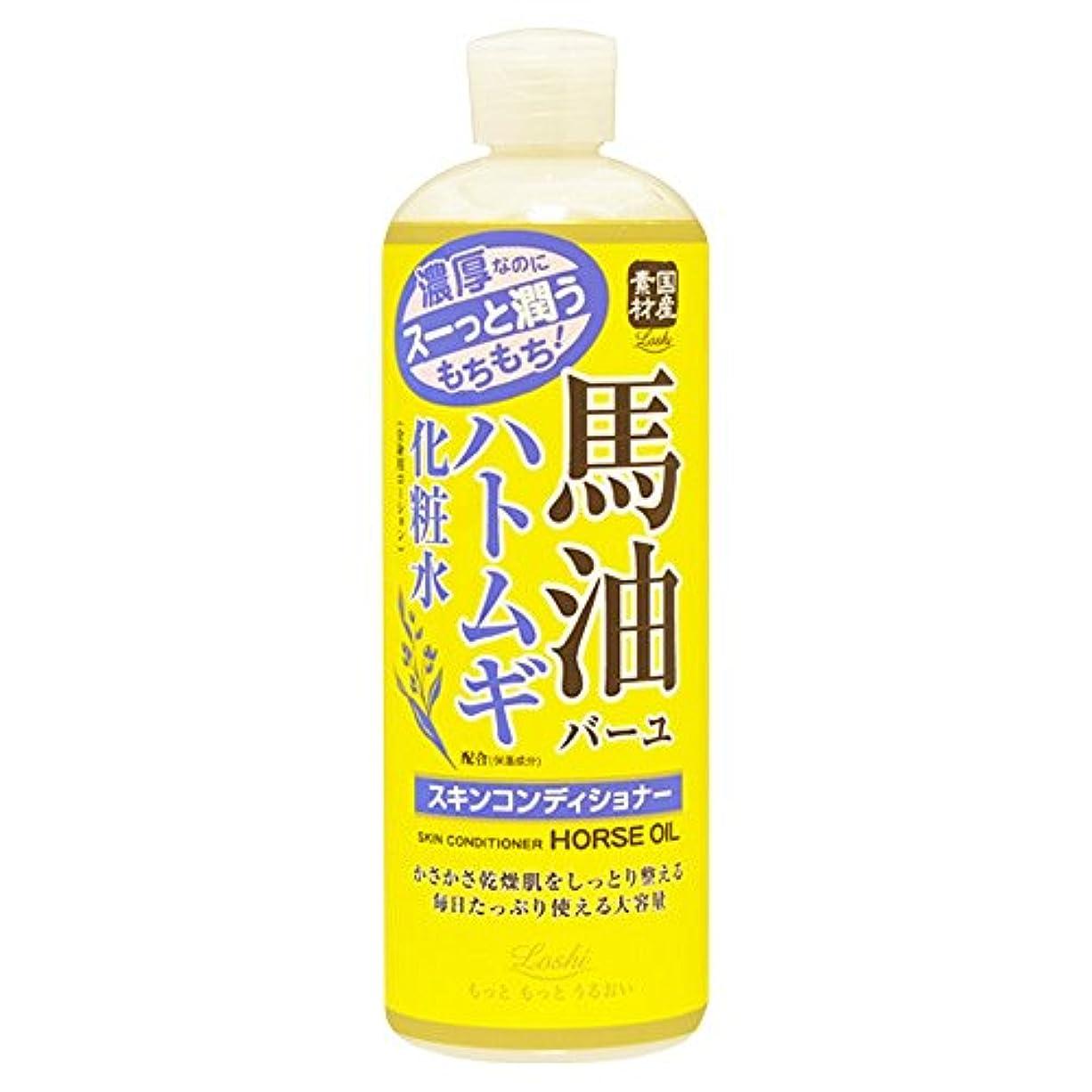 船形多数の消化器ロッシモイストエイド スキンコンディショナー 馬油&ハトムギ 500ml (化粧水 ローション 高保湿)