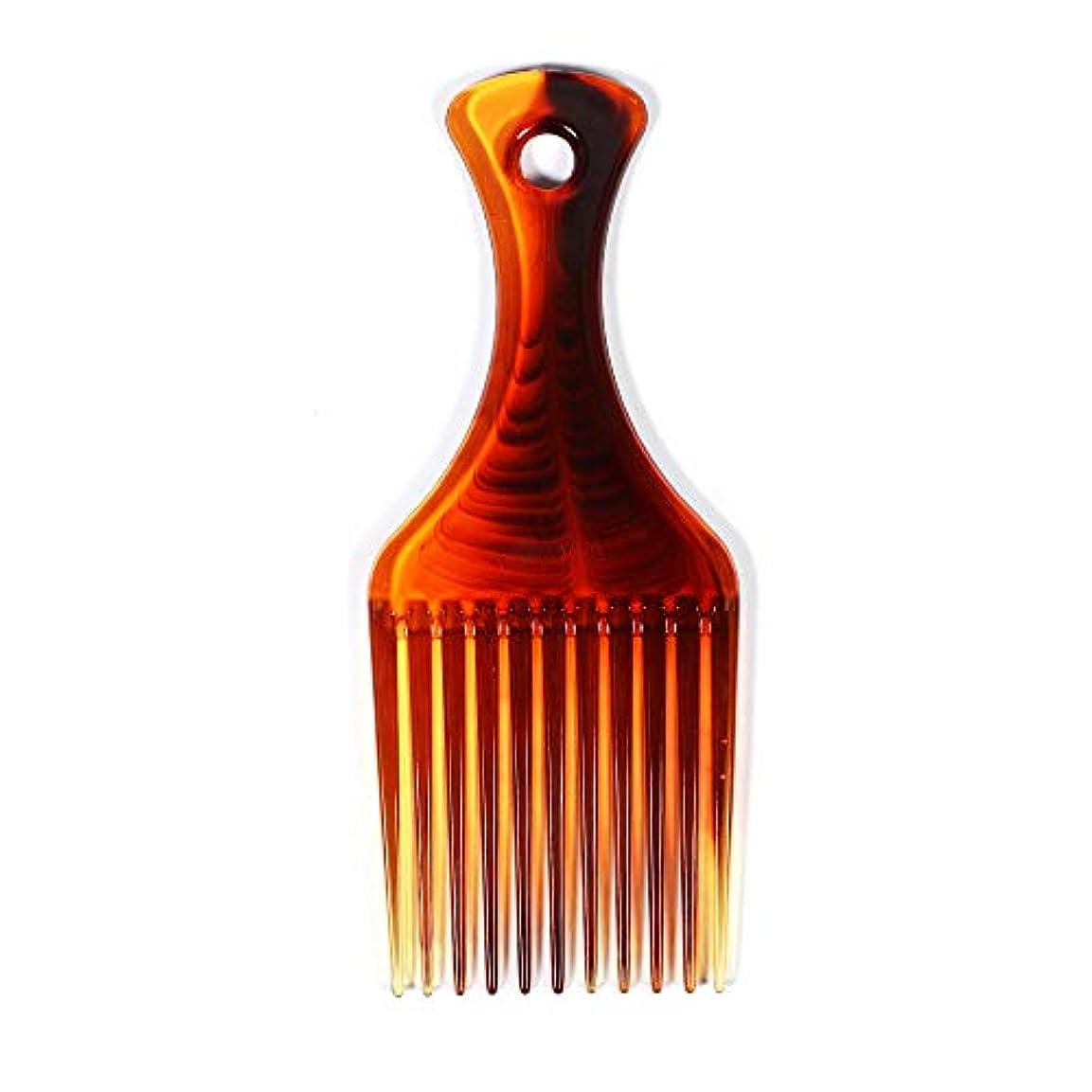 お互い残り個人SODIAL 髪用櫛 髪のフォークコーム 理髪カーリーヘアブラシ、櫛を挿入して ヘアブラシ 男性と女性のためスタイリングツール