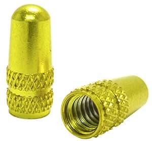 Ruler(ルーラー) アルミバルブキャップ 仏式バルブ用 ゴールド LY-NC-FRGD