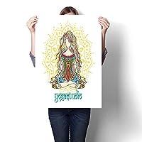 ハンギングペインティング 女性フェイスペイント ファッションペインティング すぐに掛けられる ホームデコレーション ウォールデコ (フレームなし) 32 x 60inch(80x150cm)/1pc