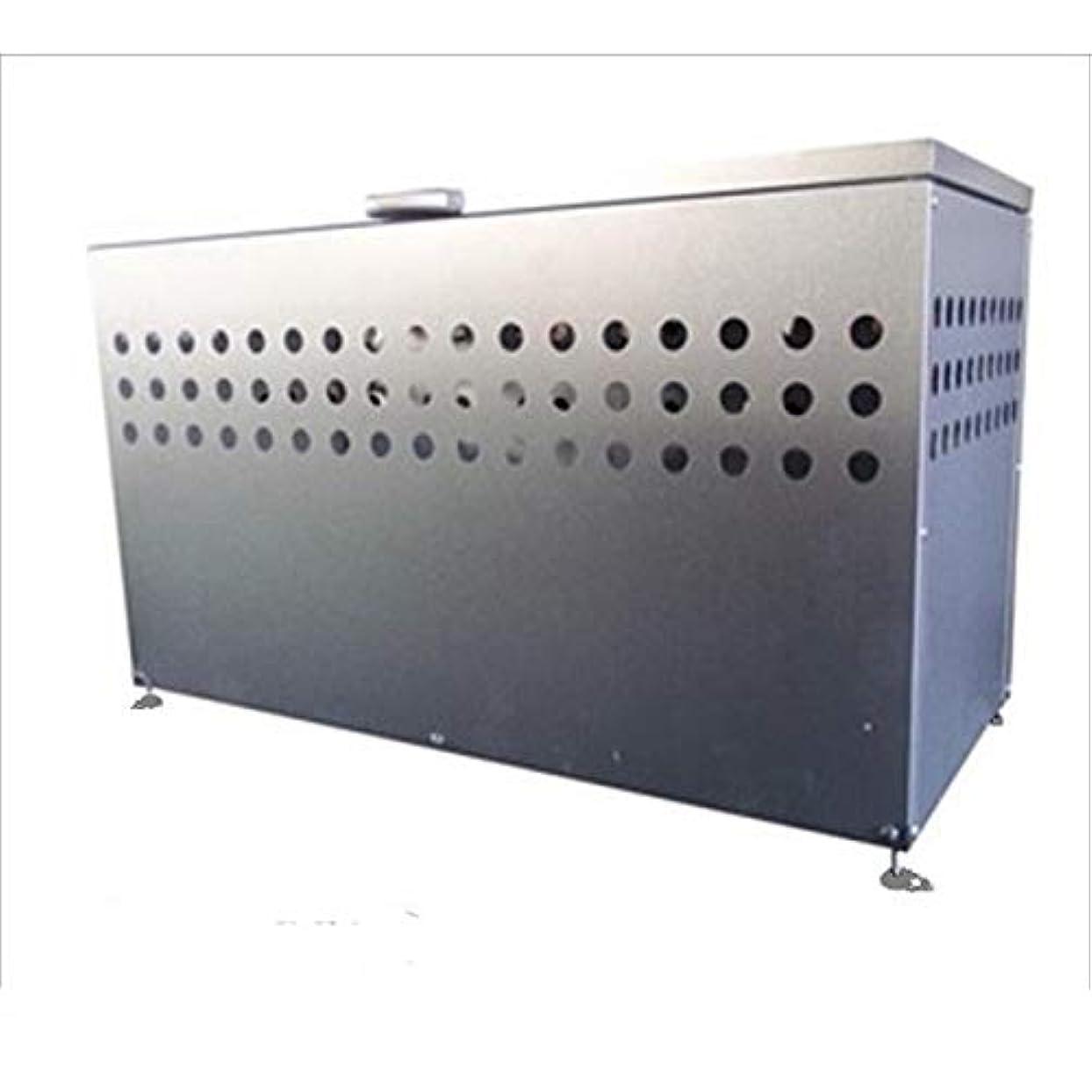 学校立方体校長メタルテック ガルバ鋼板製 ふた付 ダストボックス DST-1100 300L 『ゴミ袋(45L)集積目安 6袋、世帯数目安 3世帯』 『ダストボックス ゴミステーション 屋外』