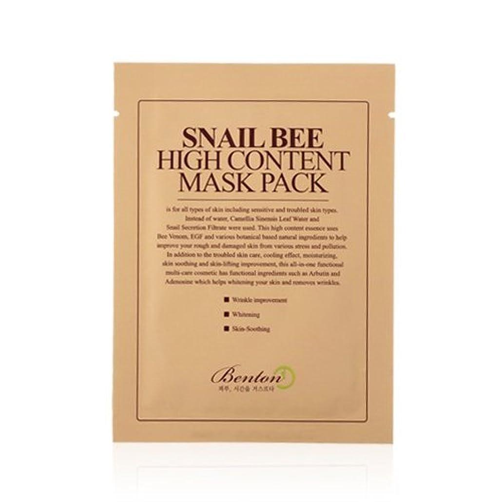 物足りないゴムスラム(6 Pack) BENTON Snail Bee High Content Mask Pack (並行輸入品)