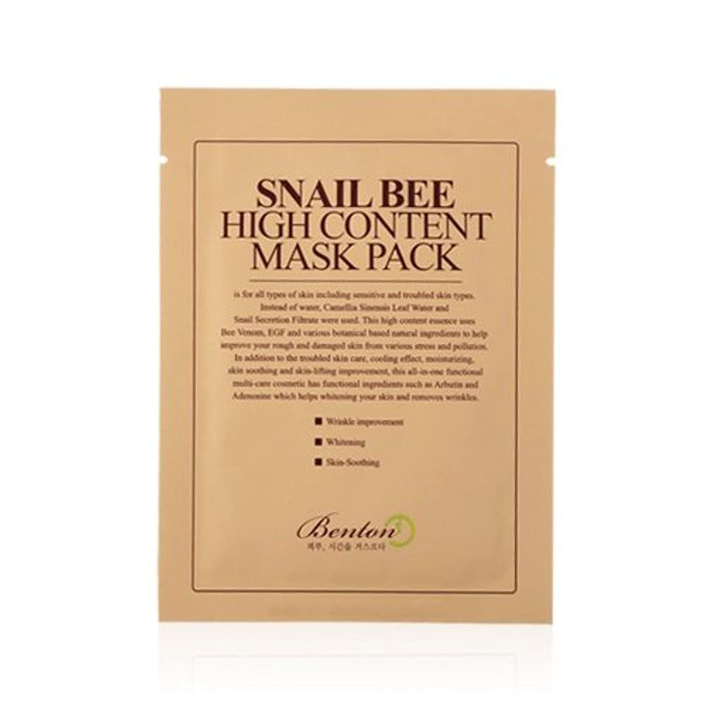 セメント裏切り受付(6 Pack) BENTON Snail Bee High Content Mask Pack (並行輸入品)