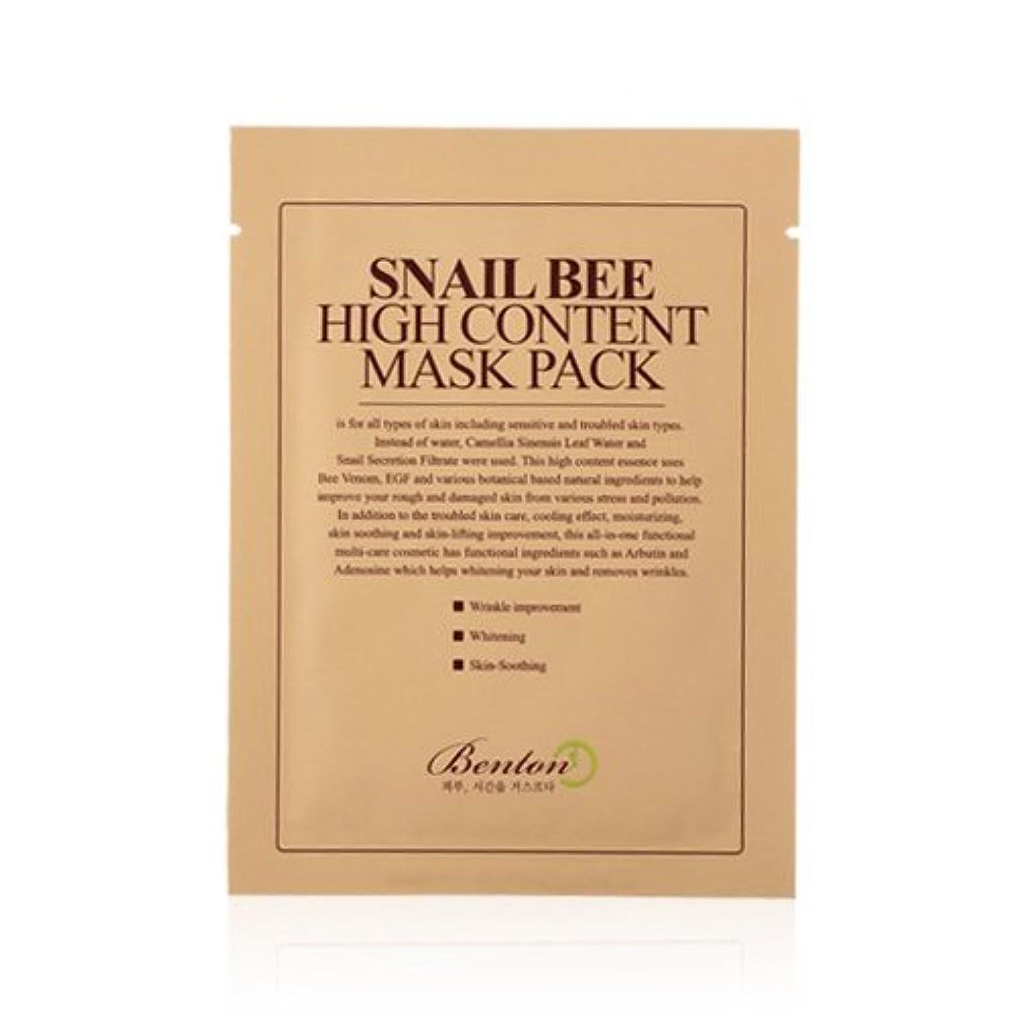 生理免疫飛ぶ(3 Pack) BENTON Snail Bee High Content Mask Pack (並行輸入品)