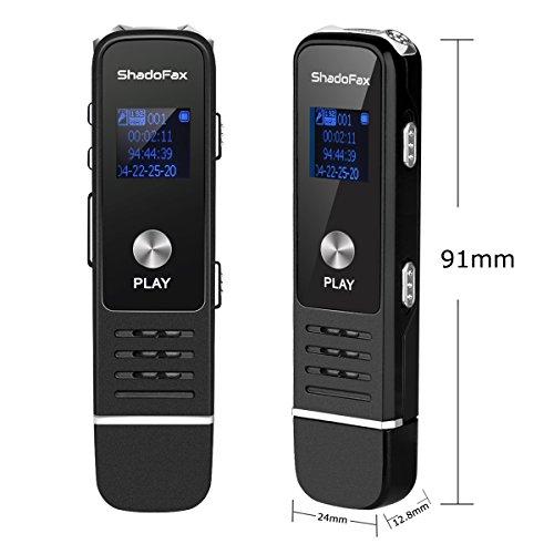ボイスレコーダー ICレコーダー ShadoFax 録音機 内蔵スピーカー 小型 高音質 TFカードスロット 8GBメモリ 長時間録音 USB型ボイスレコーダー MP3プレーヤー 日本語説明書 高音質イヤホン付