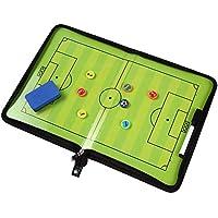 サッカー作戦ボード フットサル 作戦盤 折りたたみ式 コーチングボード マグネット 戦略指導 消しゴムと専用ペン付き