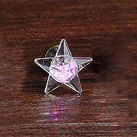 JWBOSS女性の5つのポイントスターLEDの光が輝くイヤリングEarStud LEDジュエリー