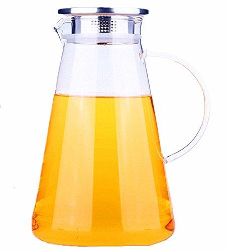 玻璃品 耐熱ガラス ティーポット 1400ml(耐熱ガラス ティーカップ 急須)