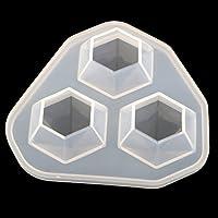 Prettyia 全2サイズ選べ ダイヤモンド形状 シリコーン金型 ジュエリー作成 DIYモールド 樹脂鋳造 標本作り  - 7x6.9x2.5cm