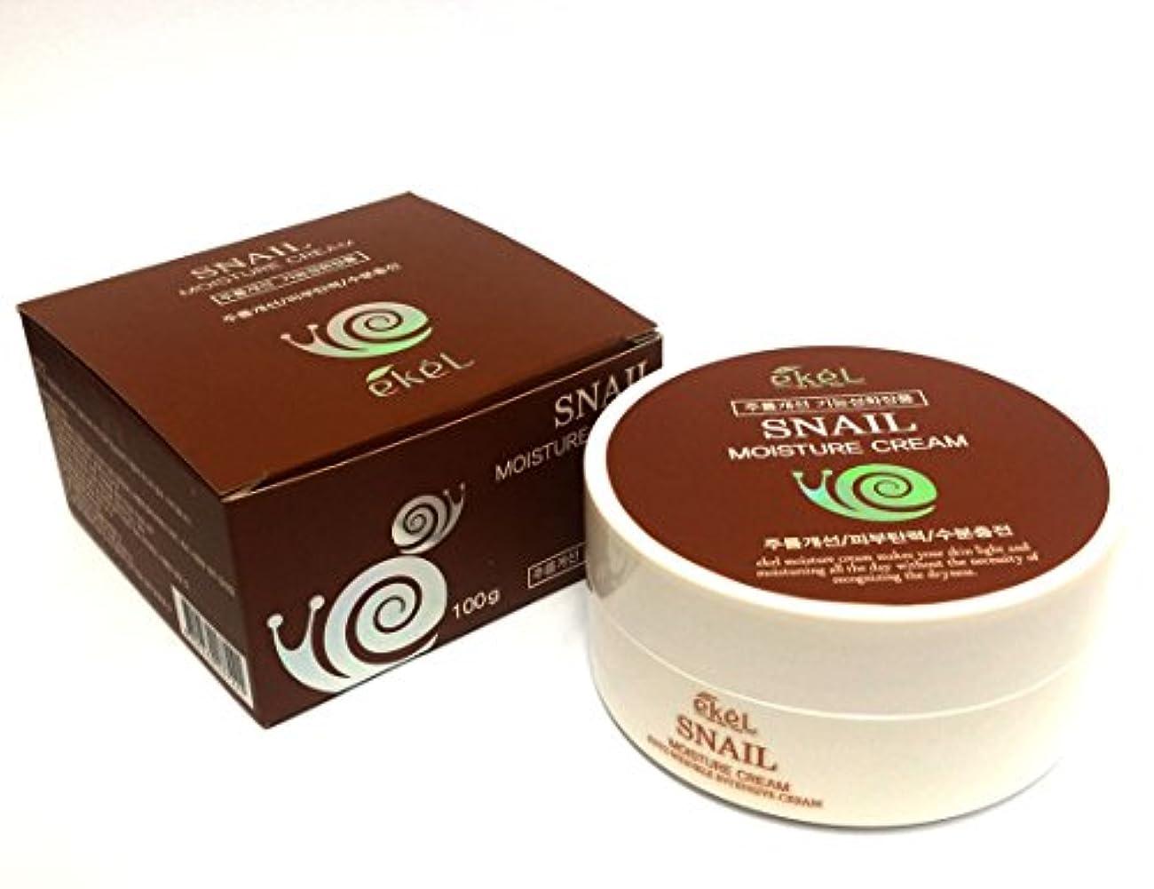 ビジュアル代わってスーパーマーケット[ekel] スネイルモイスチャークリーム100g / Snail Moisture Cream 100g /しわ?弾力?保湿 / Wrinkle, elasticity, Moisturizing / 韓国化粧品 /...