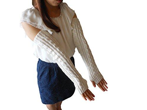 觀看(Vuyuingu)[6色]智能移動操作簡便萌套筒我與皮毛或否否毛皮手指羊毛手套手臂保溫長型