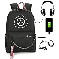SCP Foundation Backpack School Notebook Backpack Bookbag for School College Student Travel Bag