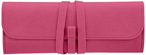 [해외]컬러 차트 여행 쥬얼리 케이스 마젠타 핑크/Color chart travel jewelry case magenta pink