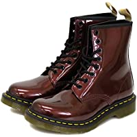 [ドクターマーチン] VEGAN 1460 ヴィーガンクローム レディース 8ホールブーツ OXBLOOD CHROME PAINT METALLIC