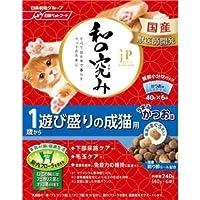 (まとめ)ジェーピースタイル 和の究み 1歳から 遊び盛りの成猫用 240g【×12セット】【ペット用品・猫用フード】