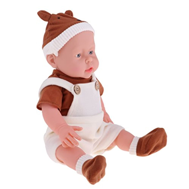 Baoblaze 抱き人形 ヌード 服付き 41cm 赤ちゃん人形 抱きドール ビニル製 新生児幼児 保育園おもちゃ 全8色 - #1