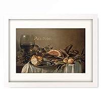 ピーテル・クラース Pieter Claesz 「Fruhstucks-Stillleben mit Schinken. 1616」 額装アート作品