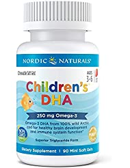 Nordic Naturals キッズ 用 DHA イチゴ 90 ソフト ジェル
